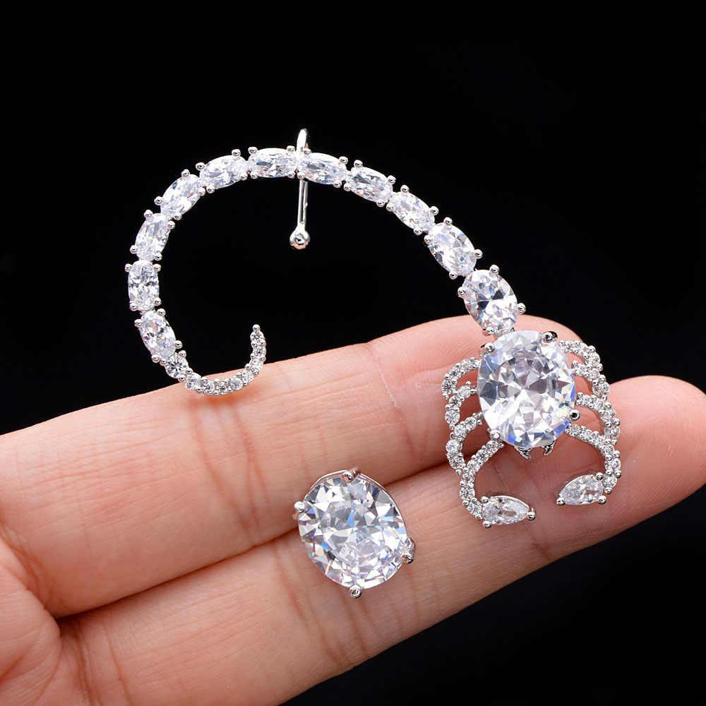 سيندي شيانغ AAA الزركون القلب وأقراط للنساء النحاس Marterial موضة أقراط زركون مجوهرات 2 الألوان المتاحة