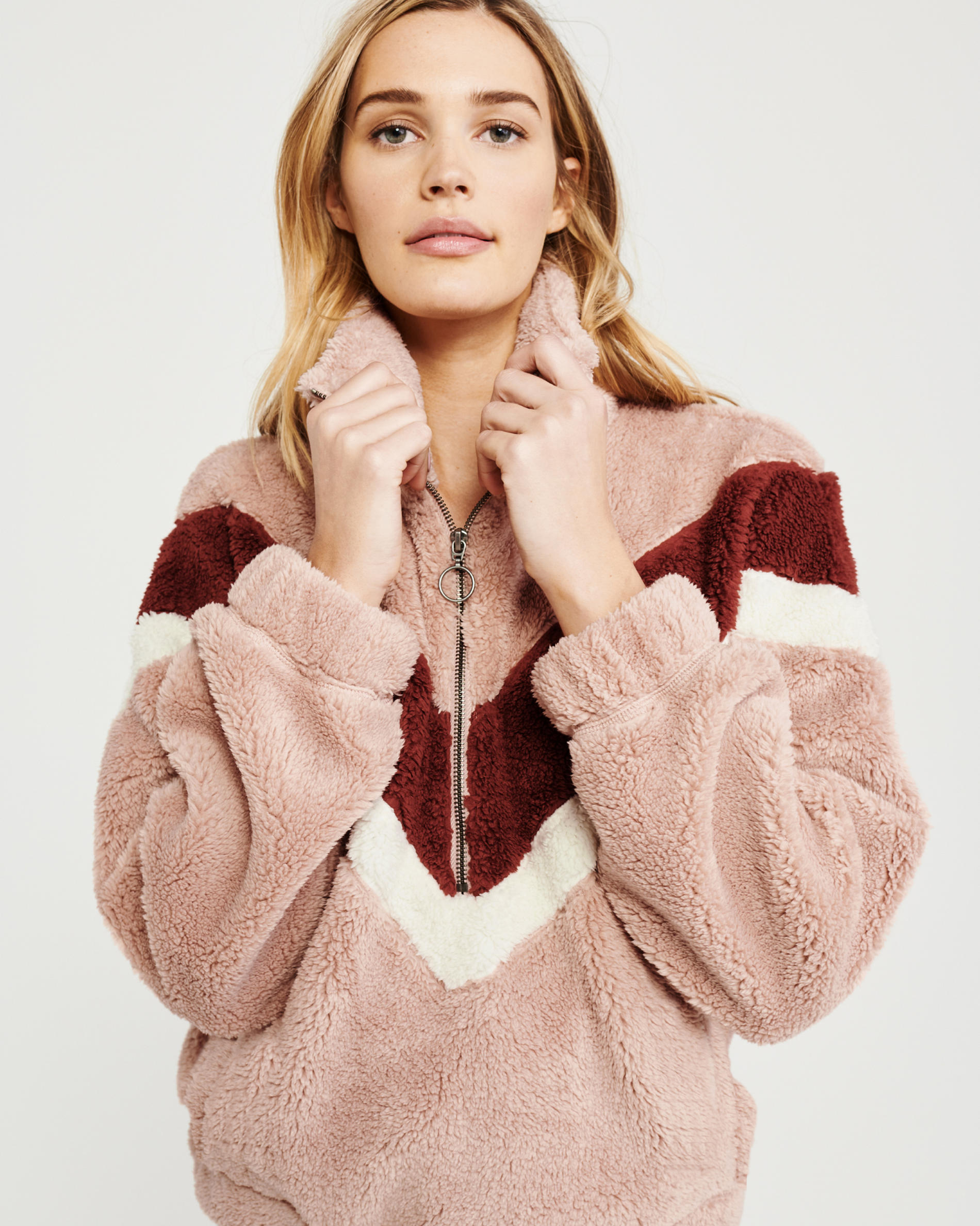 H495f53119f384685bccb2bebcca80168H New Style Women Warm Teddy Bear Fleece Pullover Coat Zip Outwear Overcoat Long Sleeve Jumper Top Pullover Winter Warm Soft Coat