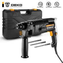 Rotary-Hammer Electric DKRH20H3 DEKO Power-Tools Impact-Drill Multifunctional Ce