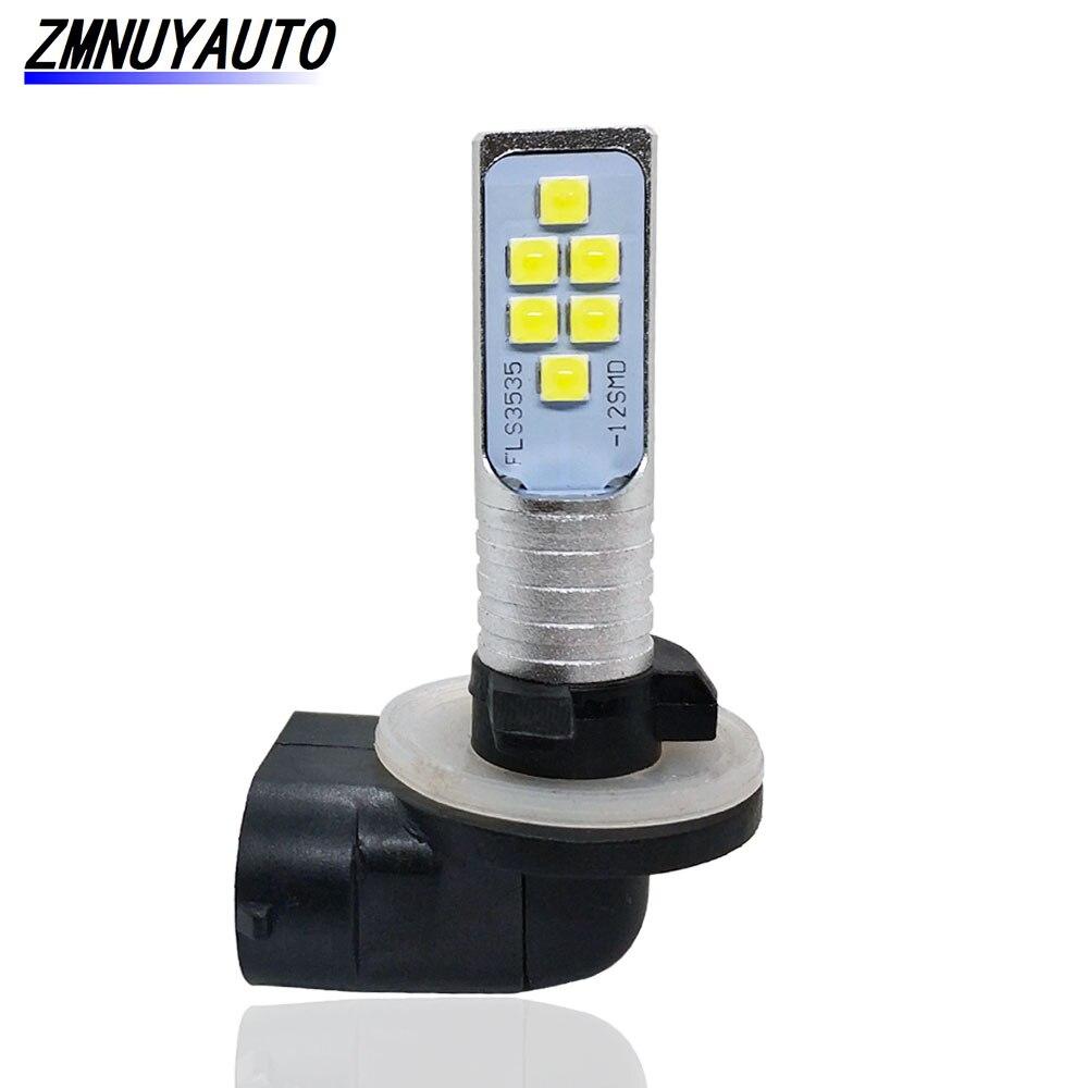 881 894 H27 H27W/2 LED Bulb 12SMD 3535 6000K White Car Fog Light Lamps Auto DRL Day Running Lights 12V 24V H27W