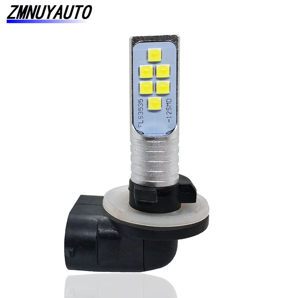 881 894 H27 H27W/2 LED Bulb 12SMD 3535 White Car Fog Light Lamps Auto DRL Day Running Lights 12V  H27W