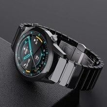 SIKAI 22mm אוניברסלי קרמיקה שעון להקת עבור Huawei GT 2 קרמיקה שעון רצועת עבור Huami Amafit GTR 47 צמיד עבור Samsung הילוך S3