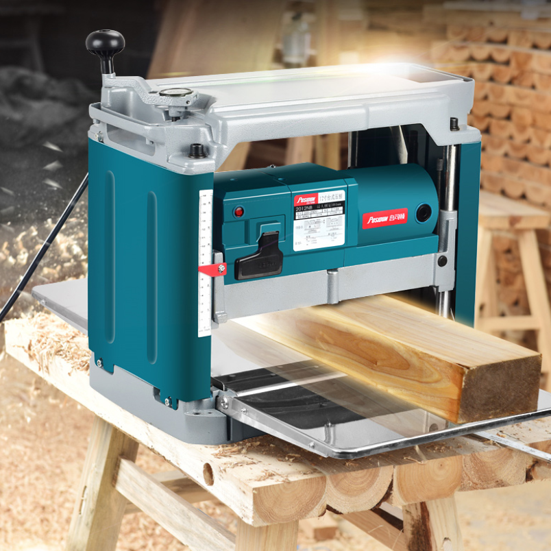 Free tax in Saudi Arabia 12inch Woodworking Multi-function Planer Power Tools Household Single-sided High-power Desktop Planer