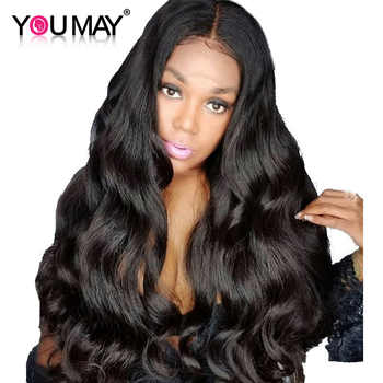 250 Density Lace Front Human Hair Wigs Pre Plucked Brazilian Body Wave 13x6 Lace Front Wigs For Women Remy You May Hair - DISCOUNT ITEM  37% OFF All Category