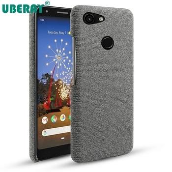 Перейти на Алиэкспресс и купить Чехол для Google Pixel 3A XL, Тонкий Ретро Тканые тканые ткани, устойчивые к царапинам жесткие чехлы из ПК для Google Pixel 3 3 XL 2 XL 4, чехол