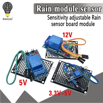 Snow Raindrops Detection Sensor Module Rain Weather Humidity For Arduino Relay Control water sensor module - discount item  10% OFF Active Components