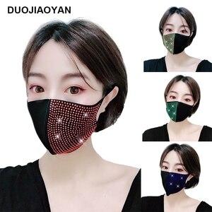 Женские Стразы DUOJIAOYAN, украшение для лица, модная блестящая маска, ювелирное изделие, цветные алмазные акриловые аксессуары для лица