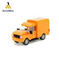 BuildMoc-Coche de ciudad Creator TECHNIC de la serie Cooper, furgoneta pequeña, juegos educativos, bloques de coche para niños, regalo