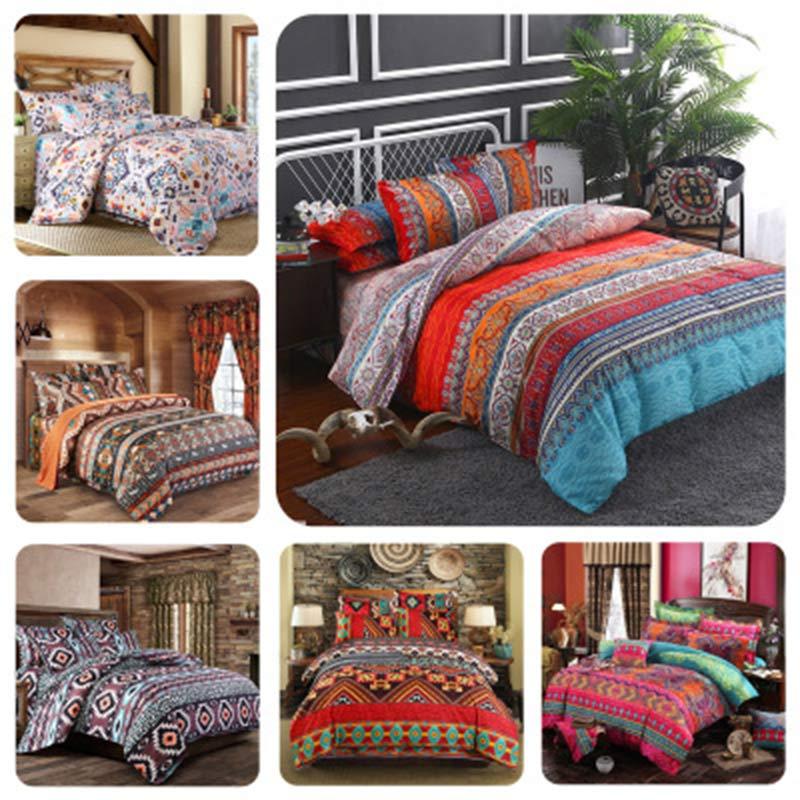 3Pcs Bohemia Bedding Set Lovers 150*200cm/180*220cm/200*230cm/220*240 Quilt Cover Ethnic Style Comforter Bedding Sets