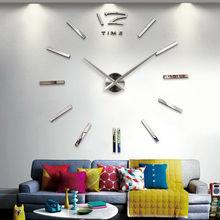 Новые настенные часы современный дизайн DIY аналоговые 3D зеркальная поверхность маленький номер настенные часы Европа акриловая наклейка домашний декор Прямая поставка