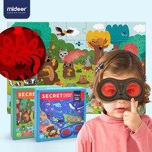 Mideer crianças quebra-cabeça 3-6 anos crianças exploratório quebra-cabeça combinando óculos secretos 35 pcs brinquedo dos desenhos animados tema oceano