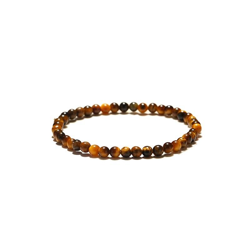 Minimalist 4mm 6mm 8mm 10mm Tiger eyes Beads Bracelet Men Charm Natural Stone Braslet For Man Handmade Casual Jewelry Pulseras 5