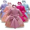 Новое платье для малышей; Кружевная одежда для крещения и крещения с цветочным рисунком; Одежда для новорожденных девочек; Костюм принцессы...