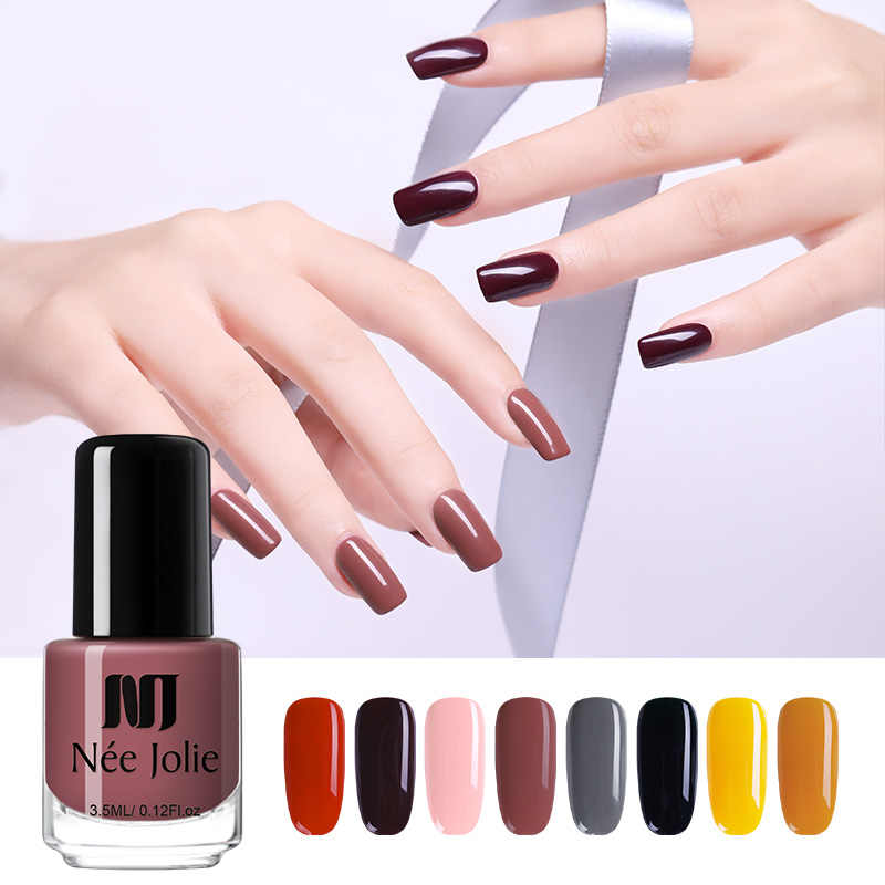 Nee Jolie Merah Seri Nail Polish 3.5 Ml 7.5 Ml Hologram Efek Matte Warna Normal Kuku Seni Polandia 12 Warna