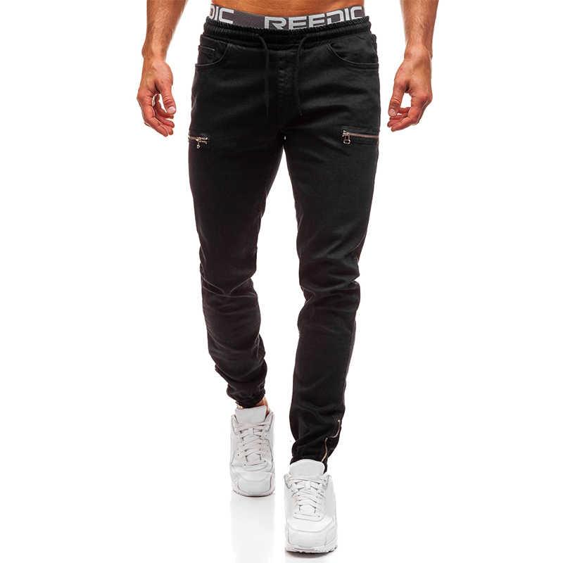 VICABO 남자 청바지 패션 2020 남자를위한 섹시한 캐주얼 청바지 블랙 블루 홀 청바지 포켓 바지 ropa de hombre 2020 # w