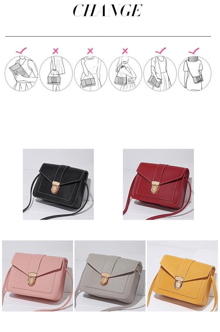 H4961228788fa49eeb6e80e3506ed0aa5p Fashion Small Crossbody Bags for Women 2019 Mini PU Leather Shoulder Messenger Bag for Girl Yellow Bolsas Ladies Phone Purse