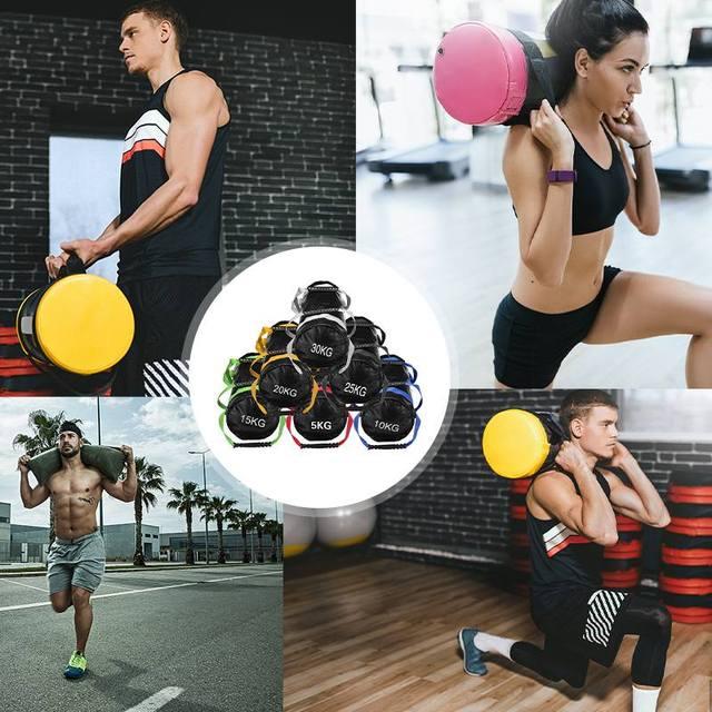5-30kg Heavy Duty Weight Sand Power Bag Strength Training Fitness Exercise Cross-fits Sand bag Body Building Gym Power Sandbag 2