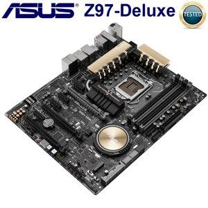 Asus Motherboards LGA 1150 DDR3 Z97 Núcleo i7/i5/i3 de Desktop PCI-E 3.0 USB3.1 Original Asus Mainboard Intel Z97 1150 DDR3 Z97-DELUXE