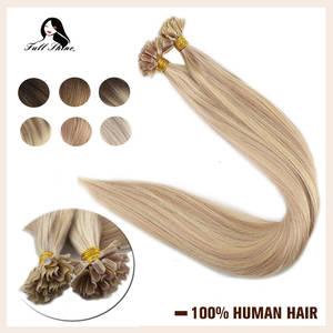 Capsule Extensions Nail-Tip Human-Hair 50g-Machine Full-Shine Highlight Keartin Remy