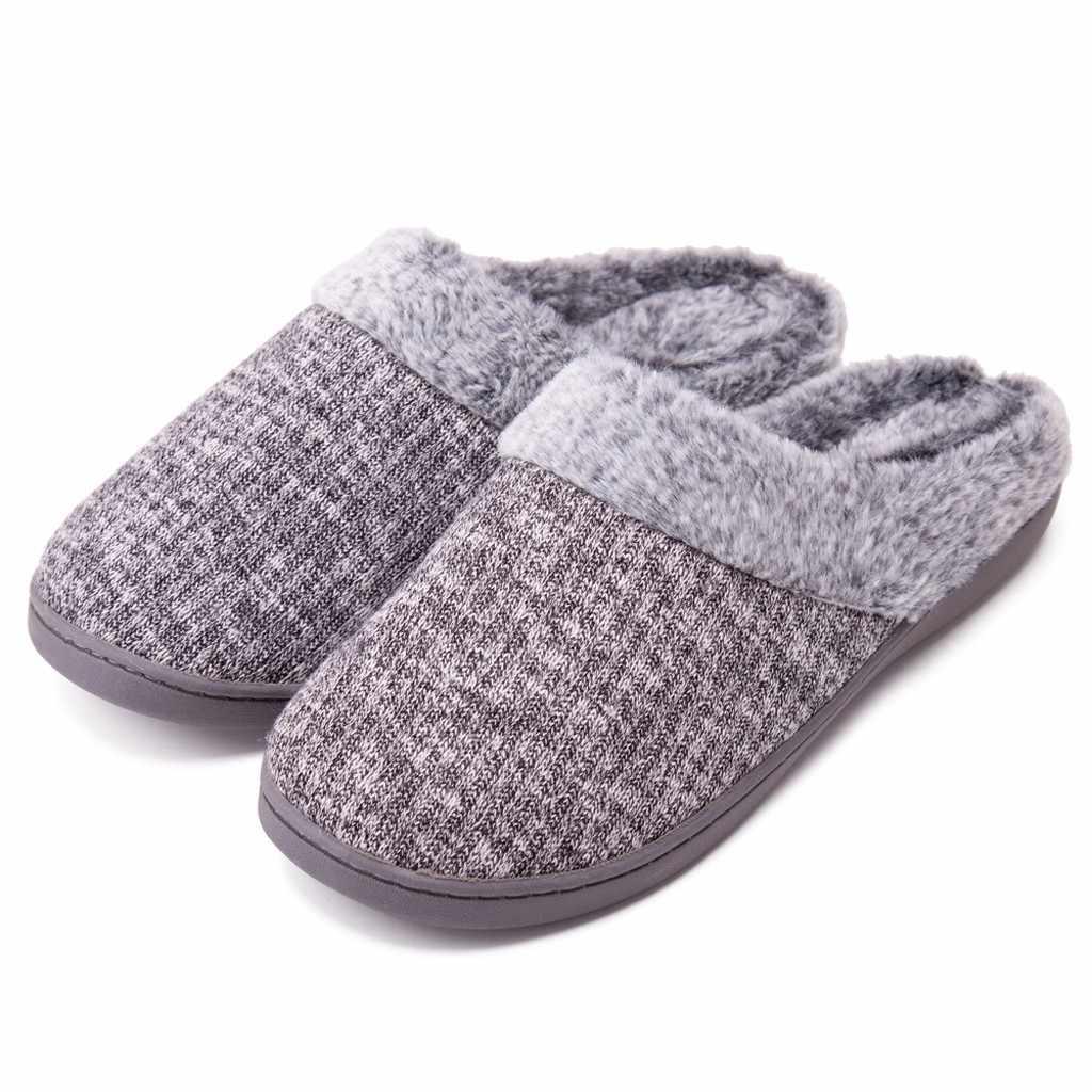 รองเท้าผู้ชาย 2020 ฤดูใบไม้ผลิฤดูหนาวใหม่ผู้ชายรองเท้าแตะ SLIP-ON Anti-Skid Sole ในร่มรองเท้าหิมะรองเท้าแตะฤดูหนาวรองเท้า # N19