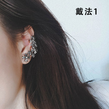 personality retro  stud gothic kpop earings fashion jewelry christmas gifts for women men punk star earrings