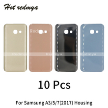 10pcs Back Housing For Samsung Galaxy A3 A5 A7 2017 A320 A520 A720 Back Glass Battery Cover Rear Door Case Replacement Parts стоимость