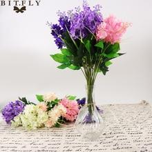 1 bunch Artificial Hyacinth lavender rayon flower desktop fake flower arrangement decoration wedding party decoration Photo prop