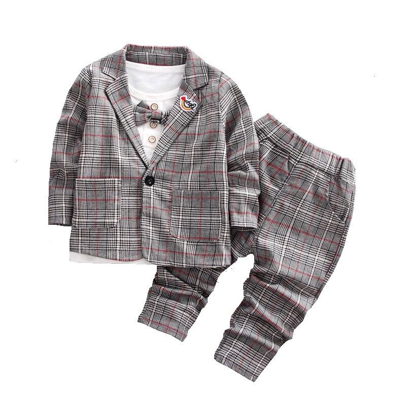 Trajes de niños Blazers moda camisas blancas Plaid tapas pantalones largos de algodón ropa de niños conjuntos de chaqueta de boda para niños Mallas de bebé MILANCEL a rayas para bebés y niños leggings ajustados leggings coreanos para niñas