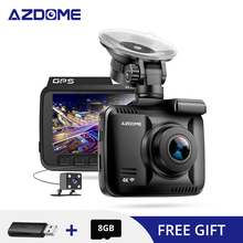AZDOME GS63H 4K Built in GPS WiFi Car DVRs Recorder DashCam Dual Lens Vehicle 6/10 Meters Rearview Camera Camcorder Night Vision