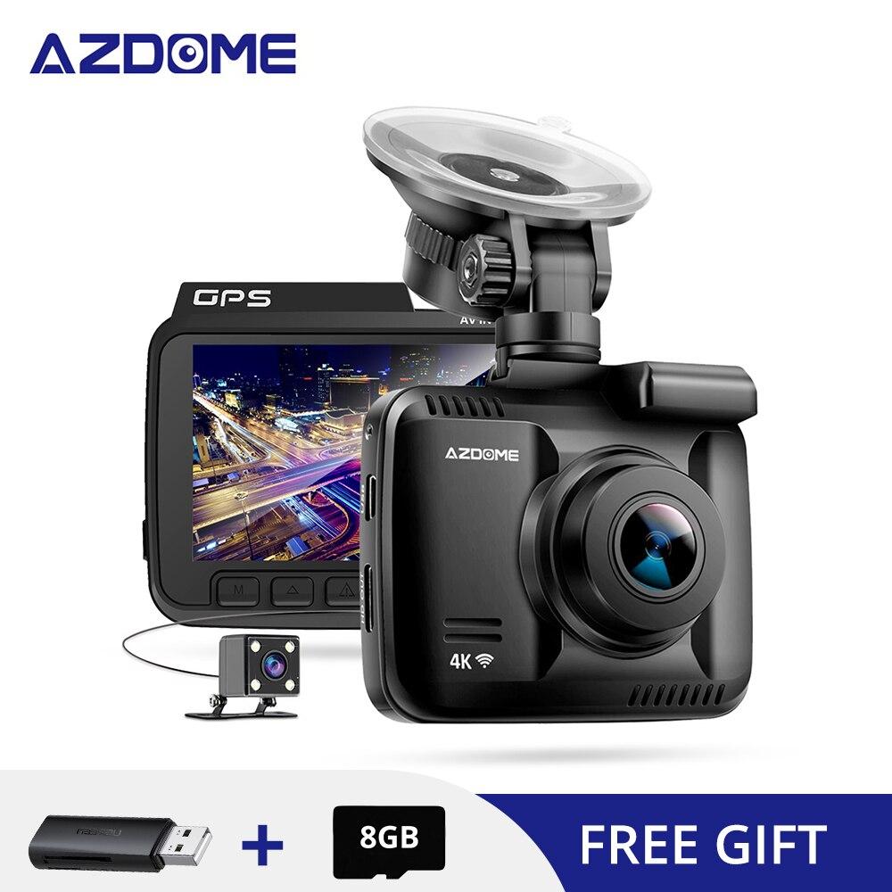 AZDOME GS63H 4K intégré GPS WiFi voiture enregistreur DVRs DashCam double lentille véhicule 6/10 mètres caméra de recul caméscope Vision nocturne