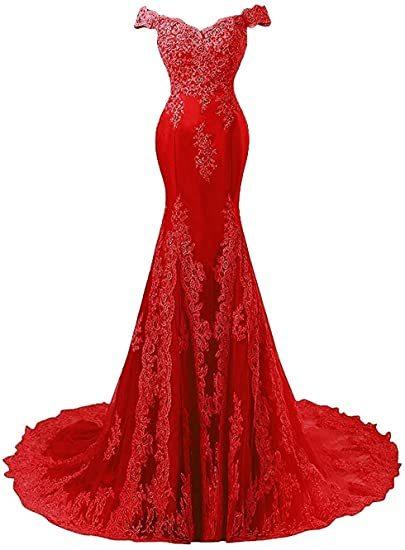 ANGELSBRIDEP Off-Shoulder Mermaid Prom Dresses Fashion Applique Crystal Court Train Vestidos de festa Abendkleider Party Gowns 5