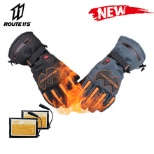 Motorcycle Gloves Waterproof Winter Heated Battery Powered Moto Gloves Motorbike Racing Riding Keep Warm Heating Glove savior motorcycle heating gloves riding racing biking winter sports electric rechargeable battery heated warm gloves cycling
