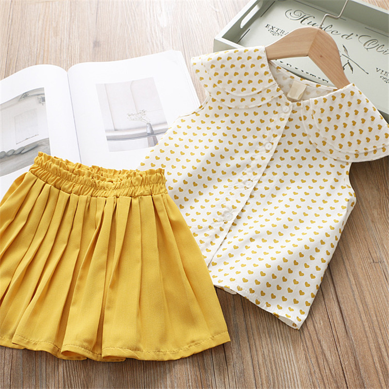 Bear Leader Girls Clothing Sets New Summer Sleeveless T-shirt+Print Bow Skirt 2Pcs for Kids Clothing Sets Baby Clothes Outfits 6