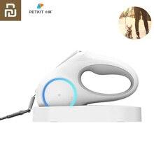 Youpin PETKIT rétractable laisse pour animaux de compagnie chien Traction corde Flexible anneau forme 2.6m avec Rechargeable LED veilleuse
