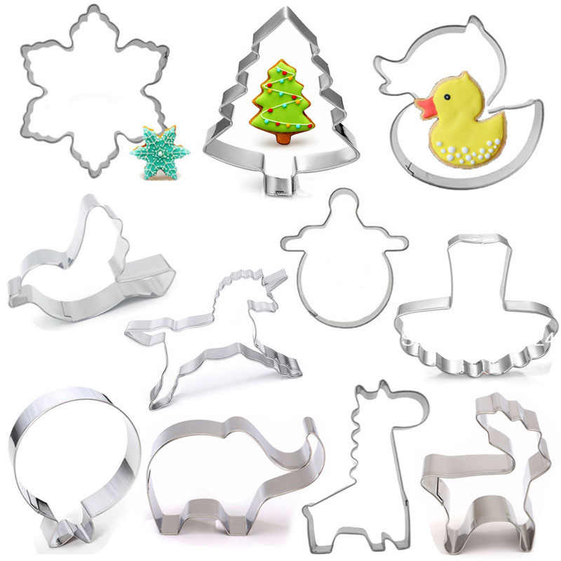 5pcs Stainless Steel Cookie Cutter DIY Biscuit Mould Baking Supplies Swan Shape