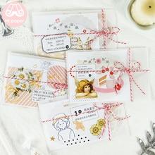 M 40Pcs/pack Bowknot Envelope Package Kawaii Techo Deco Stickers Scrapbooking Bullet Journal Suits