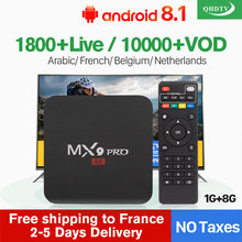 Arabic QHDTV 1 Year IPTV France Belgium MX9Pro 1G+8G Android 8.1 1G+8G Belgium Netherlands Arabic IPTV France Belgium French Box цена