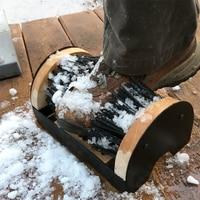 Sapatos Escova de sapato Industrial Limpeza Raspador Dobrável Escova Botas Sapatos Mais Limpo e Raspador Escova para Ao Ar Livre Indoor e Ao Ar Livre