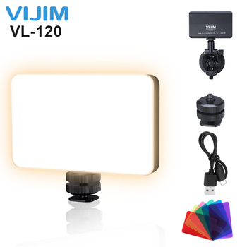 цена на VIJIM VL120 3200K-6500K Ultra Thin LED Video Light Adjustable Portable Fill Light Vlog Light with 6 Color Get RGB Effect