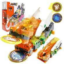 Mais novo explosão velocidade screechers selvagem deformação figuras de ação carro vários chip wafer 360 transformação brinquedos para crianças presente