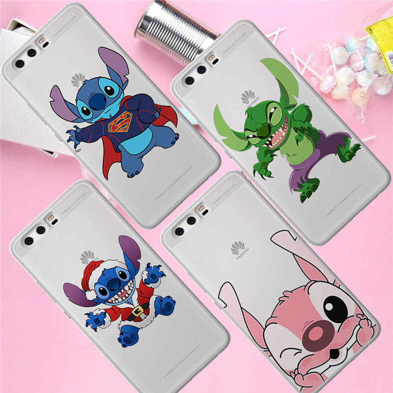 Stitch christmas For Huawei Mate 9 10 20 P8 P9 P10 P20 P30 P Smart Lite Plus Pro phone Case Cover Coque Etui funda fashion gift