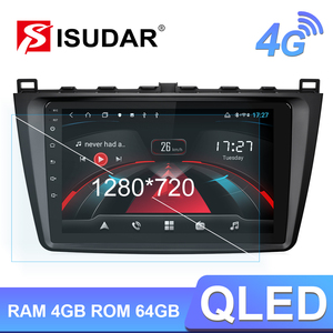 Isudar H53 4G Android 1 Din Car Multimedia For Mazda 6 2 3 GH 2007-2012 GPS Auto Stereo 8 Core RAM 4GB ROM 64GB Camera DVR DSP