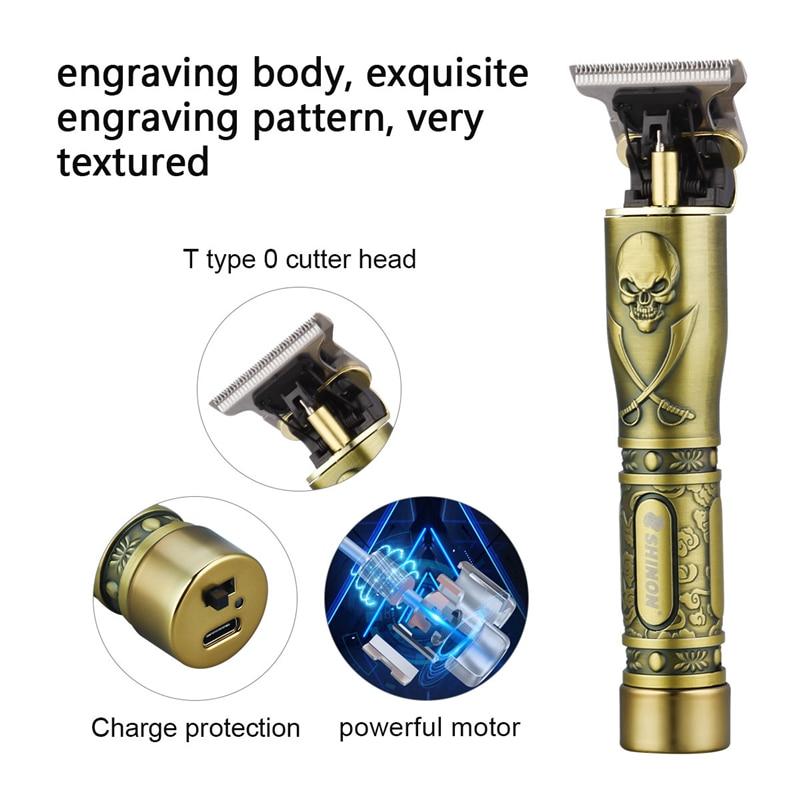 USB rechargeable ceramic Trimmer barber Hair Clipper Machine hair cutting Beard Trimmer Hair Men haircut Styling tool 6