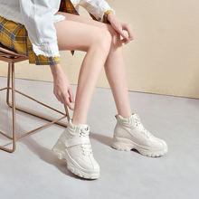 Женские повседневные ботинки короткие модные зима 2019