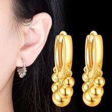 NEHZY 925 ayar gümüş yeni kadın moda küpe yüksek kalite retro püskül hollow yuvarlak altın gümüş gül altın küpe
