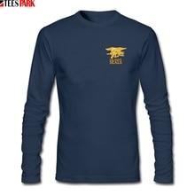 USA Army Navy Seals T Shirt Men's Casual Round Neck Long Sleeve T-shirt Men Clothing Normal Tshirts Abstract Printing Tops navy print hot drilling round neck long sleeves t shirt