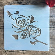 20 *20 cm size DIY Rose craft mandala mold for painting stencils stamped photo album embossed paper card on wood, fabric, wall