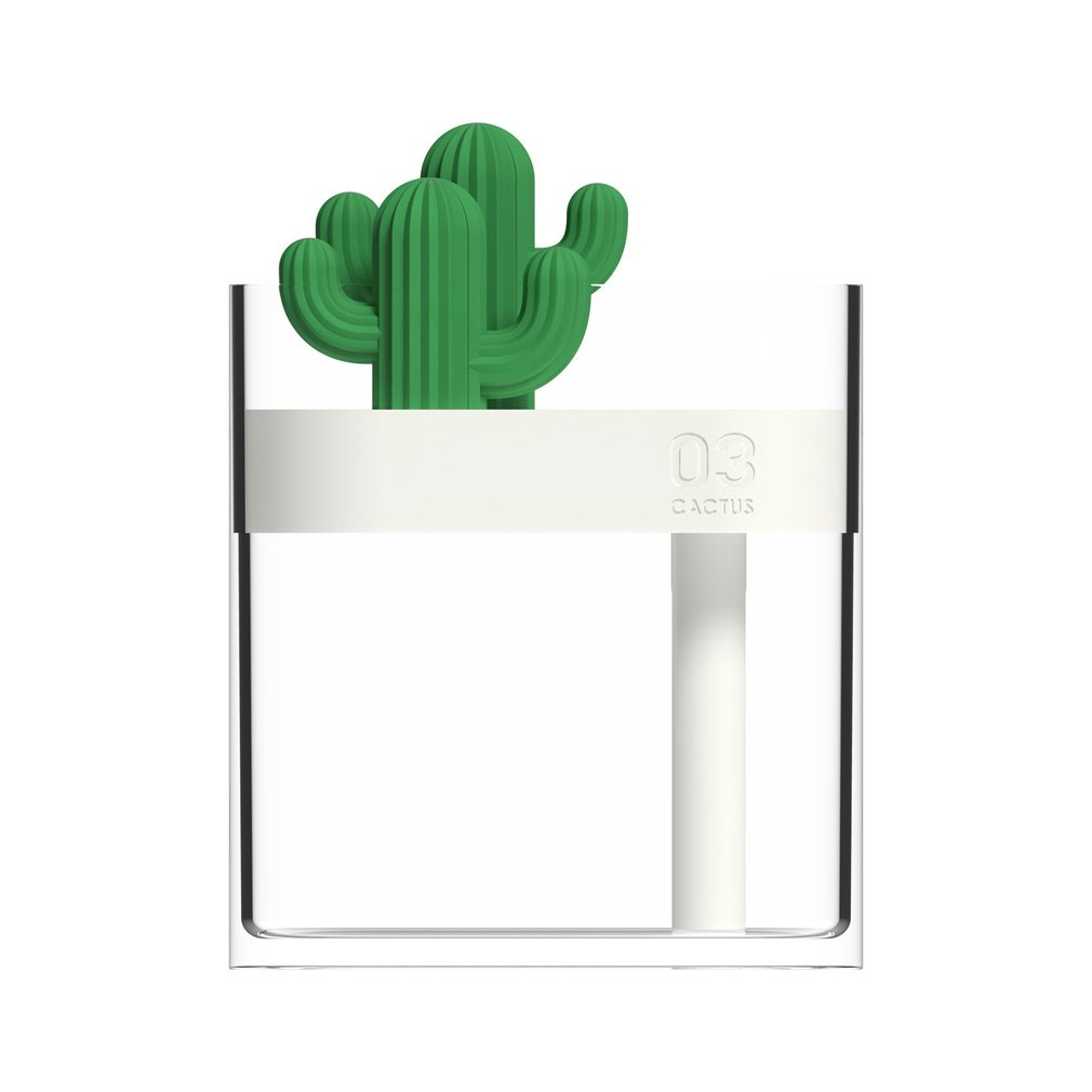 Mini Ultrasonic Air Humidifier Clear Cactus Color Light USB Essential Oil Diffuser Car Purifier Aroma Diffusor Mist Maker