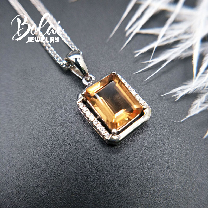 Bolaijewelry Color change Gemstone pendant 925 sterling silver created diaspore zultanite colorful pendant best gift for women in Pendants from Jewelry Accessories