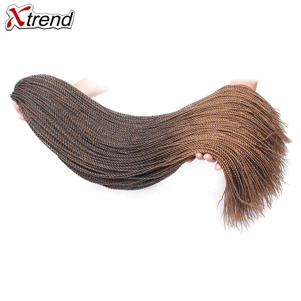 Xtrend 32inch Micro Senegalese Twist Synthetic Crochet Braid Ombre Braiding Hair Extension Crotchet Hair